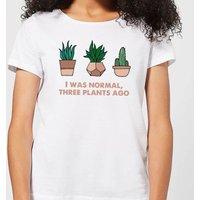 I Was Normal Three Plants Ago Illustration Women's T-Shirt - White - XXL - White - White Gifts