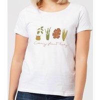 Burnt Orange Crazy Plant Lady Women's T-Shirt - White - XXL - White - White Gifts