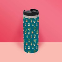 Water Colour Plants Thermo Travel Mug - Travel Gifts