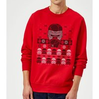 Star Wars Kylo Ren Ugly Holiday Sweatshirt - Red - S - Red - Holiday Gifts
