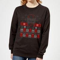 Star Wars Kylo Ren Ugly Holiday Women's Sweatshirt - Black - L