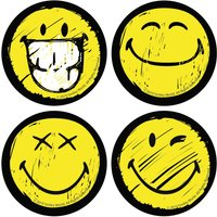 Multi Smiley Face Coaster Set - Smiley Gifts
