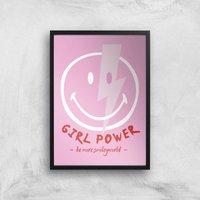 Girl Power Giclee Art Print - A2 - Black Frame