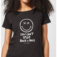 You Can't Stop Rock N Roll Women's T-Shirt - Black - S - Black