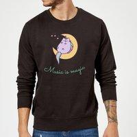 Pusheen Music Is Magic Sweatshirt - Black - XXL - Black - Music Gifts