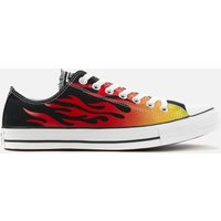 Converse Men's Chuck Taylor All Star Canvas Archive Flame Ox Trainers - Black/Enamel Red/Fresh Yello