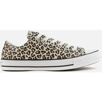 Converse Chuck Taylor All Star Canvas Archive Cheetah Ox Trainers - Black/Driftwood/Light Fawn - UK