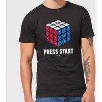 Press Start Mens T-Shirt - Black - L - Black
