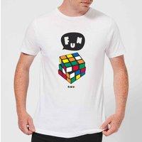 Solving Rubik's Cube Fun Men's T-Shirt - White - L - White