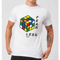 Fear Less Rubik's Cube Men's T-Shirt - White - XXL - White