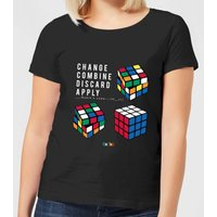 Change Combine Discard Apply Women's T-Shirt - Black - XXL - Black