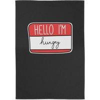 Hello I'm Hungry Cotton Black Tea Towel