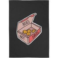 Nugs Not Drugs Cotton Black Tea Towel