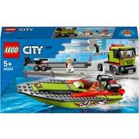 LEGO City: Great Vehicles Race Boat Transporter Set (60254)