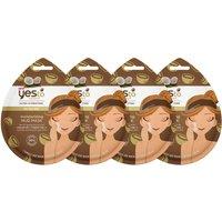 yes to Coconut Moisturizing Mud Single Use Mask (Pack of 4)