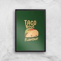 Taco 'Bout Flavour Art Print - A2 - Black Frame