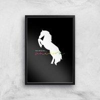 The Original Unicorn Art Print - A2 - Black Frame