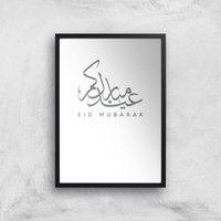 Eid Mubarak Art Print - A2 - Black Frame