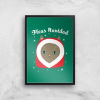 Fleas Navidad Art Print - A2 - Black Frame