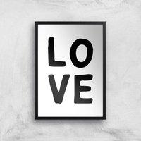 Love Art Print - A2 - Black Frame