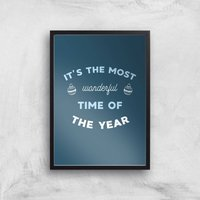 Image of It's The Most Wonderful Time Of The Year Art Print - A2 - Black Frame