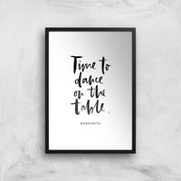 PlanetA444 Time To Dance On The Tables Art Print - A2 - Black Frame - Dance Gifts