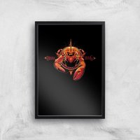 Aquaman Brine King Art Print - A2 - Black Frame