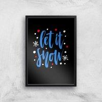 Let It Snow Art Print - A2 - Black Frame - Snow Gifts