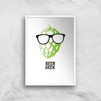 Beer Geek Art Print - A2 - White Frame