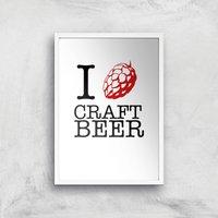 I Hop Craft Beer Art Print - A2 - White Frame