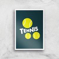 Tennis Balls Art Print - A2 - White Frame - Sport Gifts