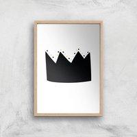 Crown Art Print - A2 - Wood Frame