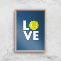 Love Tennis Art Print - A2 - Wood Frame - Sport Gifts