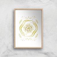 Snakes Art Print - A2 - Wood Frame