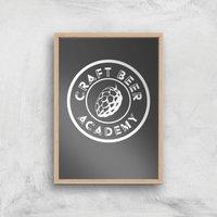 Craft Beer Academy Art Print - A2 - Wood Frame