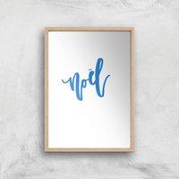 Noel Snowflakes Art Print - A2 - Wood Frame