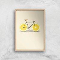 Image of Citrus Lemon Art Print - A2 - Wood Frame
