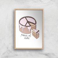 Peace Of Cake Art Print - A2 - Wood Frame