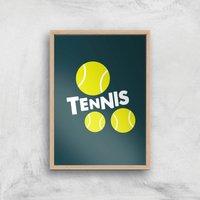 Tennis Balls Art Print - A2 - Wood Frame - Sport Gifts
