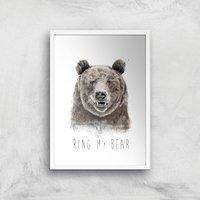 Balazs Solti Ring My Bear Art Print - A2 - White Frame