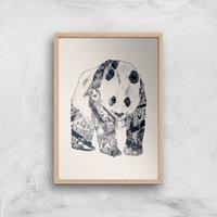 Tobias Fonseca Tattooed Panda Art Print - A2 - Wood Frame