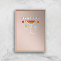 Infographic Cosmopolitan Art Print - A2 - Wood Frame