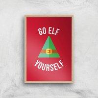 Go Elf Yourself Art Print - A2 - Wood Frame