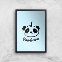 Pandicorn Art Print - A3 - Black Frame