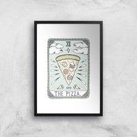 The Pizza Art Print - A3 - Black Frame