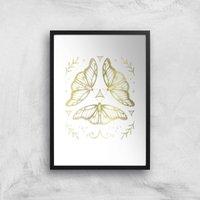 Fairy Dance Art Print - A3 - Black Frame
