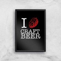I Hop Craft Beer Art Print - A3 - Black Frame