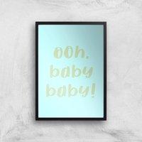 Ooh Baby Baby Art Print - A3 - Black Frame