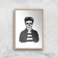 Balazs Solti Cool Skull Art Print - A2 - Wood Frame