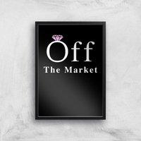 Off The Market Art Print - A3 - Black Frame